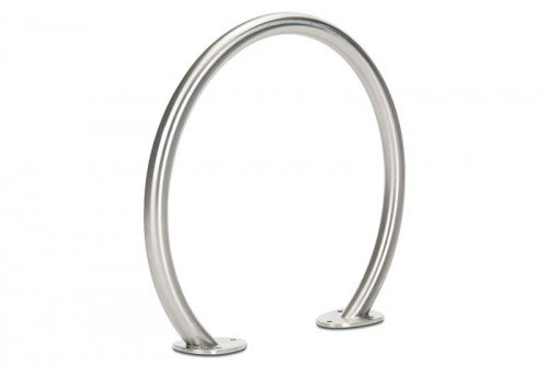 Circle Bike Rack, Stainless Steel, Surface Mount