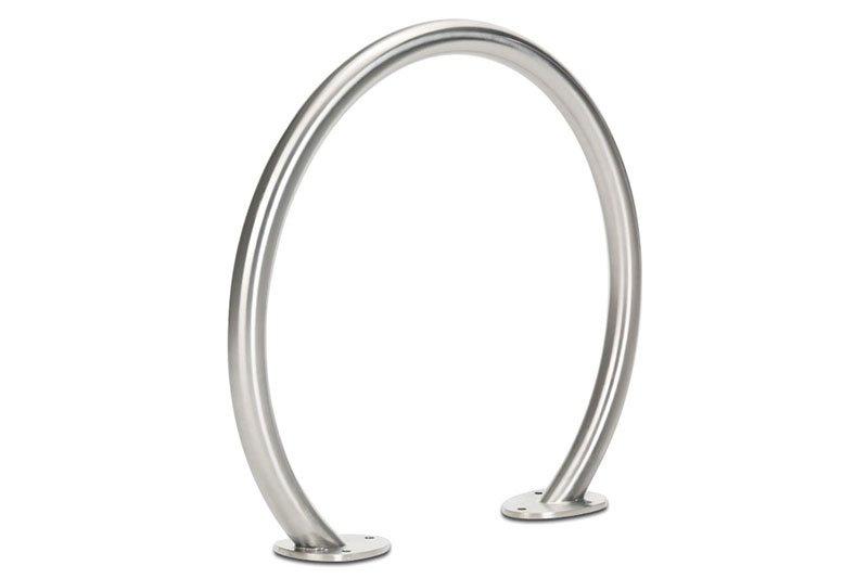 Circle Bike Rack, Stainless Steel, Surface Mount