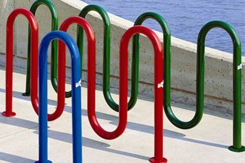 Continuous Loop Bike Rack