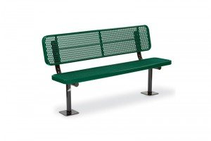 Victory Deep Seat Park Bench w/ Back