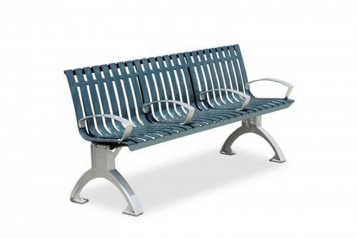 Latitude 6' Contour Bench with Divided Seating