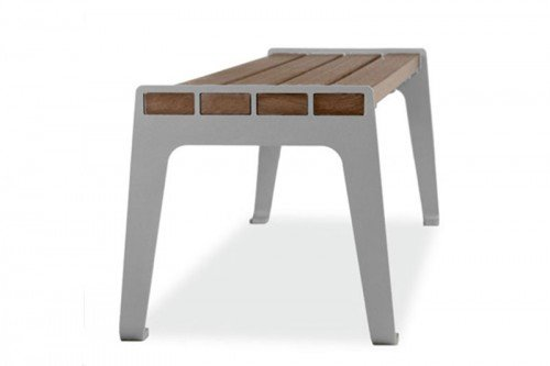 Madison Flat Recycled Plastic Bench 1