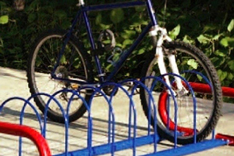 Round Hoop Bike Rack - Horizontal Leg