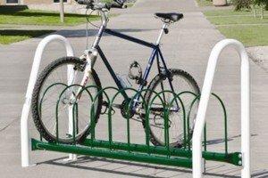 Round Hoop Bike Rack - Vertical Leg