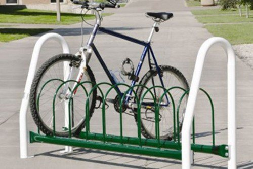 Round Hoop Bike Rack - Vertical Leg