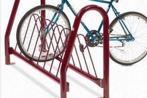 Triangle Hoop Bike Rack - Vertical Leg
