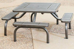Heavy-Duty Perforated Steel Ultra Table with Surface Mount