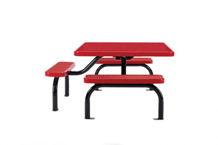 3-Seat ADA Perforated Steel Ultra Table with Surface Mount