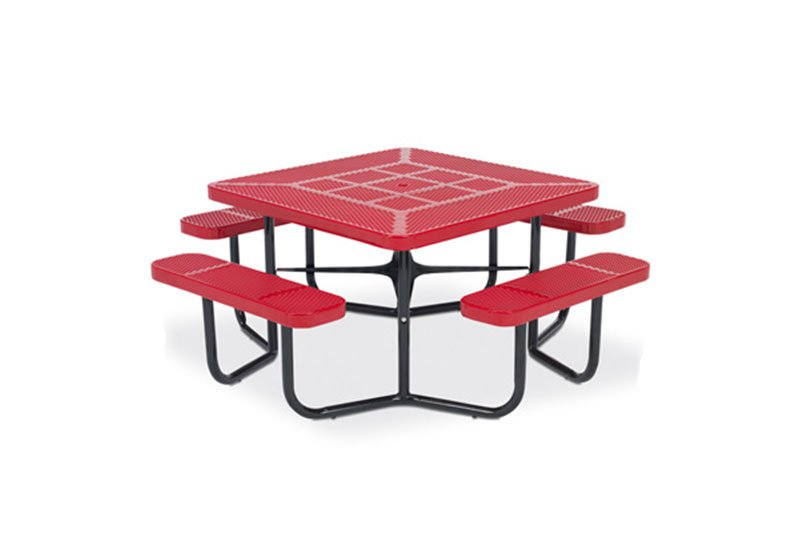 """46"""" Square Rally Picnic Table with 4-Leg Design"""