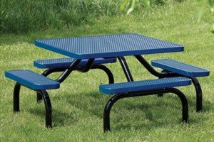 Heavy-Duty Expanded Steel Ultra Table with Surface Mount