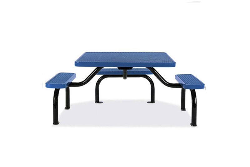 3-Seat ADA Expanded Steel Ultra Table with Surface Mount