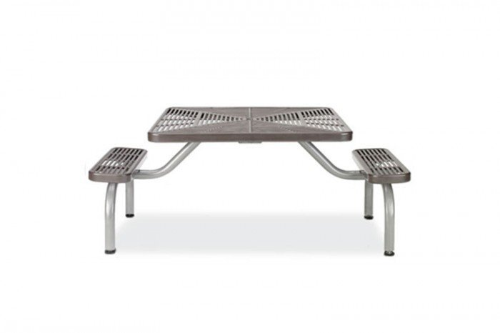 2-Seat ADA Slotted Steel Ultra Table with Surface Mount