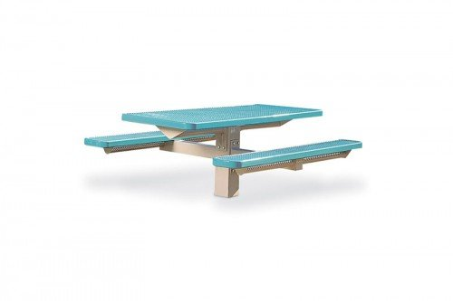 Rectangular Picnic Table - Single Pedestal