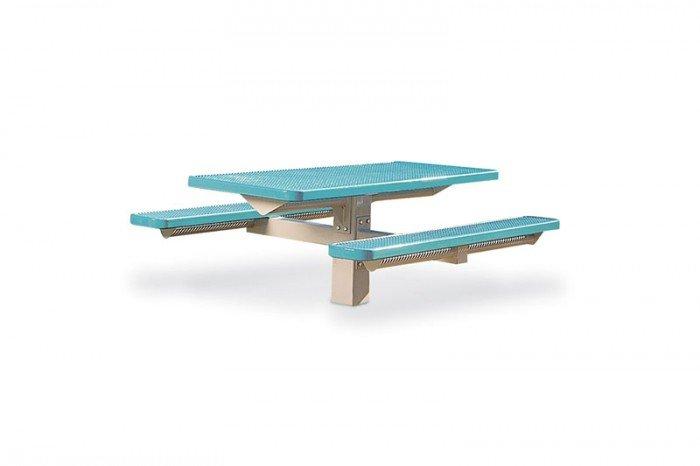 Rectangular Picnic Table - Single Pedestal