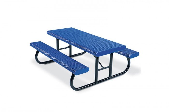 Rolled Edge Rectangular Table - Portable