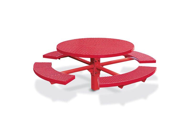 Single Pedestal Round Picnic Table