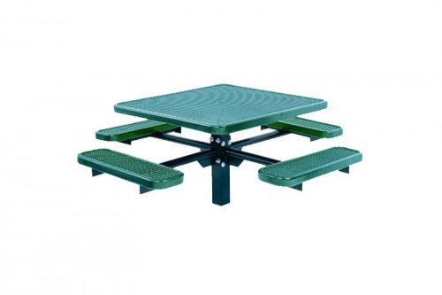 Single Pedestal Square Table