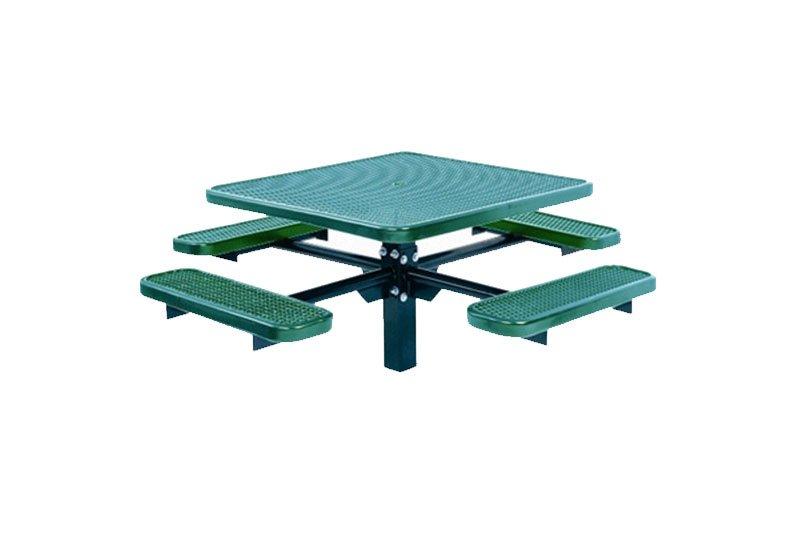 Single Pedestal Square Table