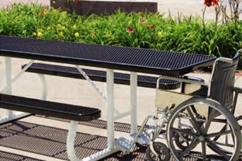Accessible Rectangular Table - Portable