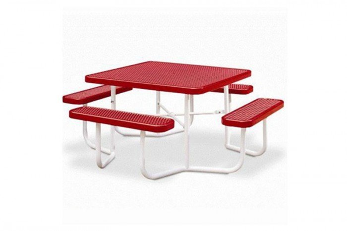 Square Table with 4 Leg Frame