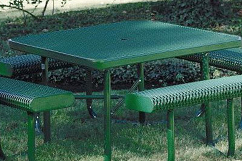 Square Table with 4 Leg Frame - Rolled Seats