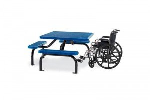 Accessible Square Pedestal Table