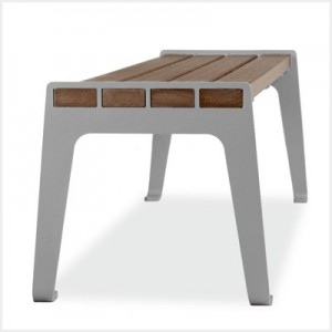 6' Madison Flat Recycled Plastic Bench