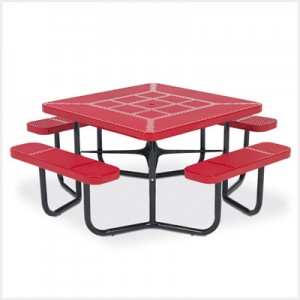"46"" Square Rally Picnic Table with 4-Leg Design"