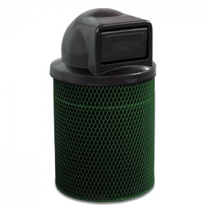 Ultra Expanded Steel Trash Receptacle - Dome Top