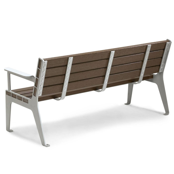RCPMC6 - 6' Madison Contour Recycled Plastic Bench