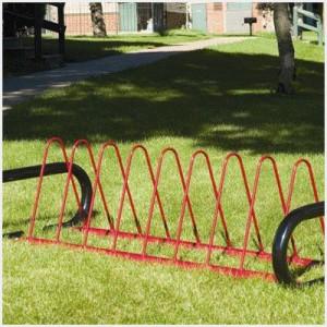 Triangle Hoop Bike Rack - Horizontal Leg