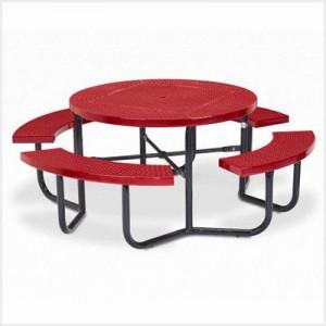 Round Picnic Table - 4 Leg Frame