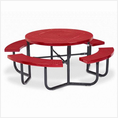 Round Picnic Table - 4 Leg Frame