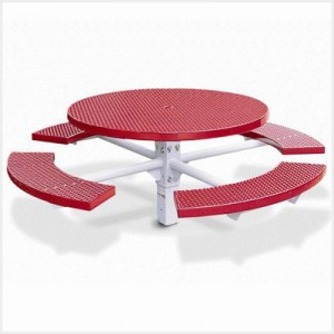 Single Pedestal Round Picnic Table