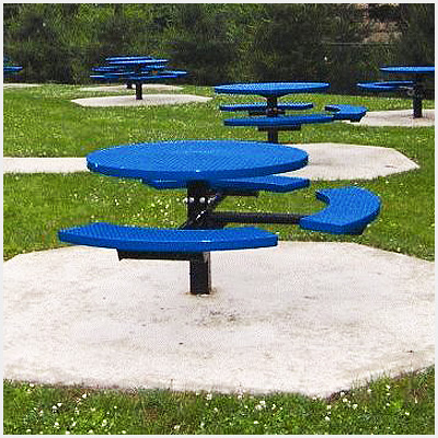 Accessible Round Pedestal Table