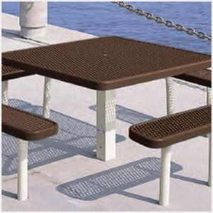 Multi-Pedestal Square Table